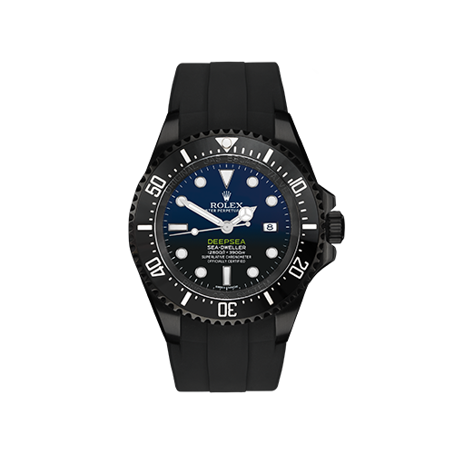 BLACK OUT Rolex Deepsea D-BLUE by PROJECT X
