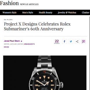 Recent coverage of the Project X Limited Edition HS01 by Just Luxe