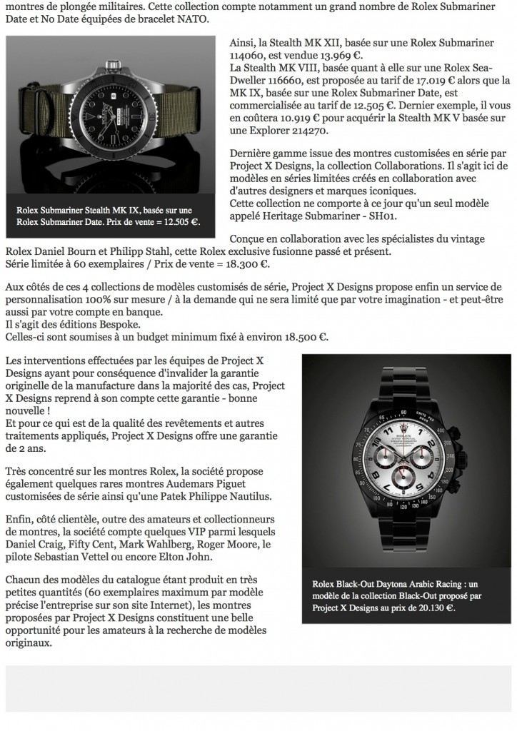 PAGE 2 Des Rolex customisées par la société Project X Designs _ The Watch Observer