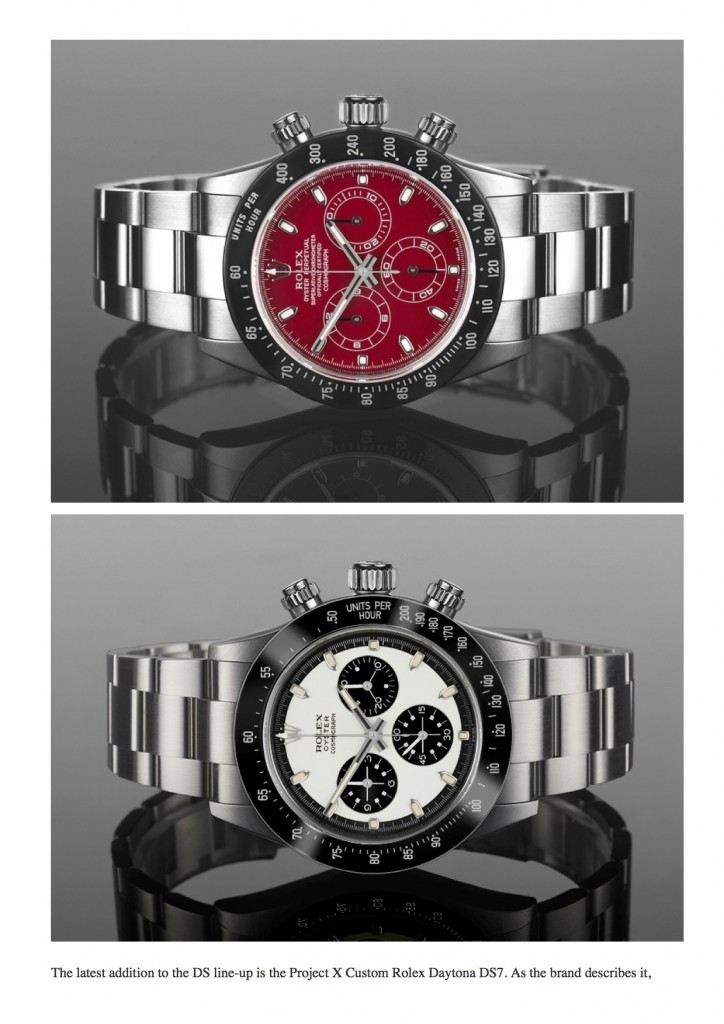PAGE 4 Project X Custom Rolex Daytona 'Paul Newman' Tribute & Other Colorful Variants _ aBlogtoWatch