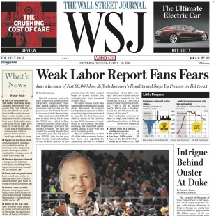 FRONT 500 WALL STREET JOURNAL 2012